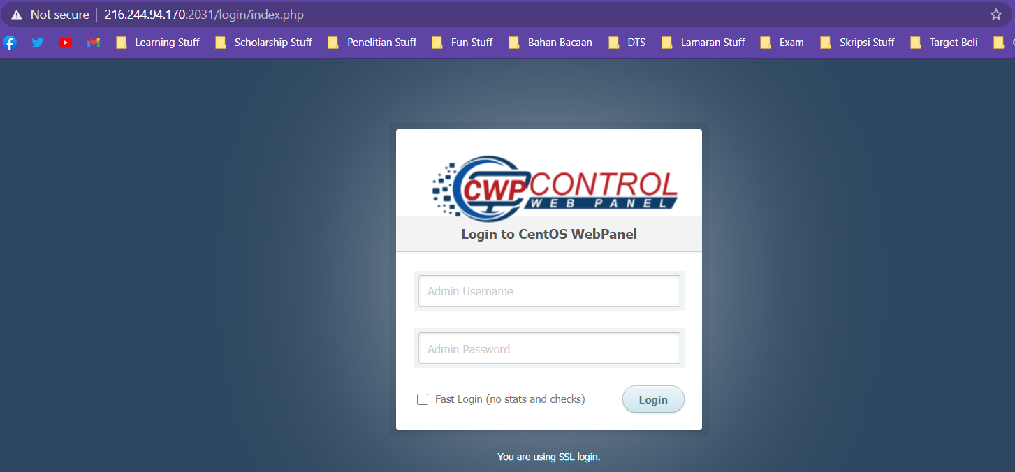 How to Install CWP in Cloud Raya